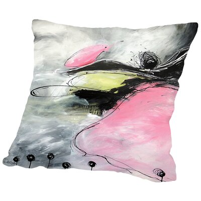 Motus Et Bouche Cousue Throw Pillow Size: 18 H x 18 W x 2 D