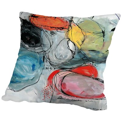 Motus Et Gomme Balloune Throw Pillow Size: 18 H x 18 W x 2 D