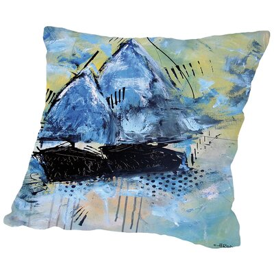 Navy 2832 Throw Pillow Size: 14 H x 14 W x 2 D