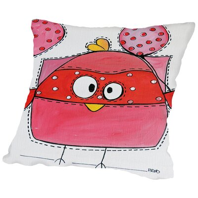 Pink Birdz 1 Throw Pillow Size: 14 H x 14 W x 2 D