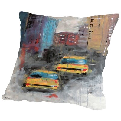 Street Throw Pillow Size: 14 H x 14 W x 2 D