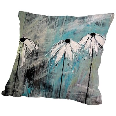 Three Fleurs Blanches Throw Pillow Size: 14 H x 14 W x 2 D