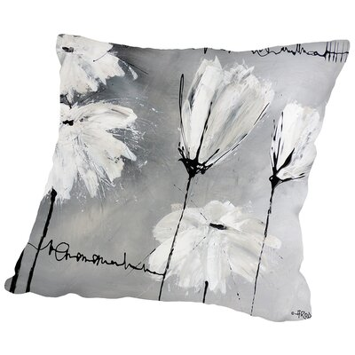 Flower Throw Pillow Size: 20
