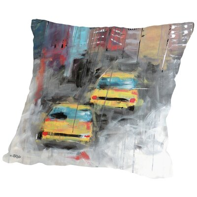City Throw Pillow Size: 18