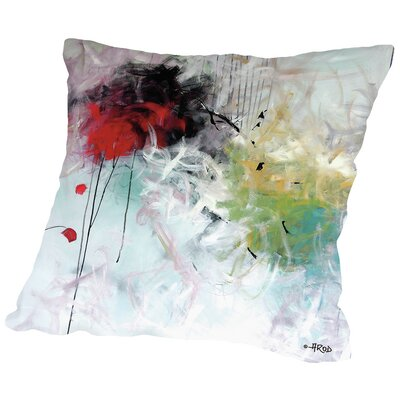 Crazy Carre Throw Pillow Size: 14 H x 14 W x 2 D