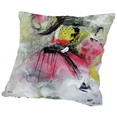 Crazy III Throw Pillow Size: 16