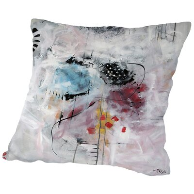 Motus Et Bleuets Throw Pillow Size: 18 H x 18 W x 2 D