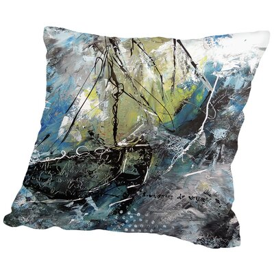 Navy 101 Throw Pillow Size: 14 H x 14 W x 2 D