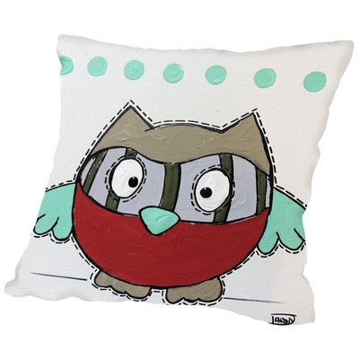 Owl 2 Throw Pillow Size: 16 H x 16 W x 2 D