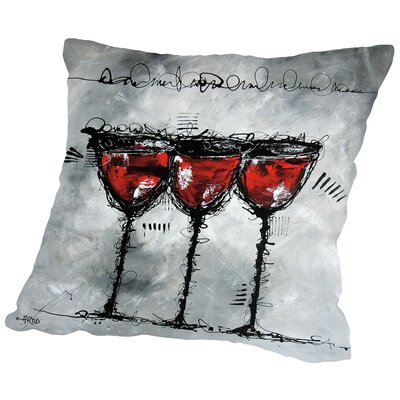 Vino 3-1 Throw Pillow Size: 14 H x 14 W x 2 D