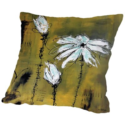 Flower 2 Throw Pillow Size: 16 H x 16 W x 2 D