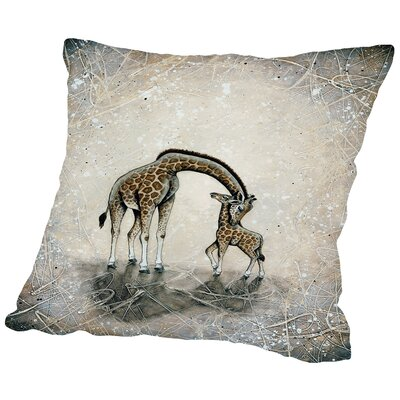 My Love for You - Giraffes Throw Pillow Size: 14 H x 14 W x 2 D