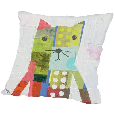 Cat Throw Pillow Size: 18 H x 18 W x 2 D