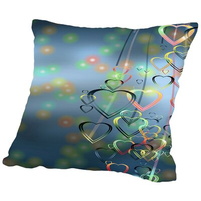 Falling Heart Love Romance Throw Pillow Size: 14 H x 14 W x 2 D