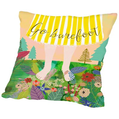 Go Barefoot Outdoor Throw Pillow Size: 18 H x 18 W x 2 D
