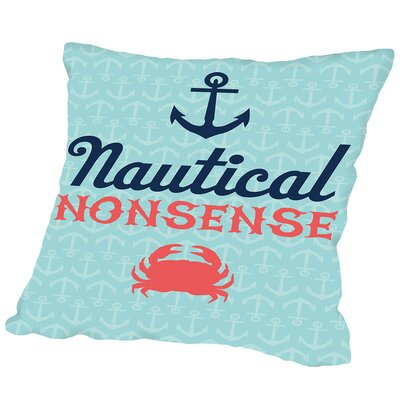Nautical_Nonsense Outdoor Throw Pillow Size: 16 H x 16 W x 2 D