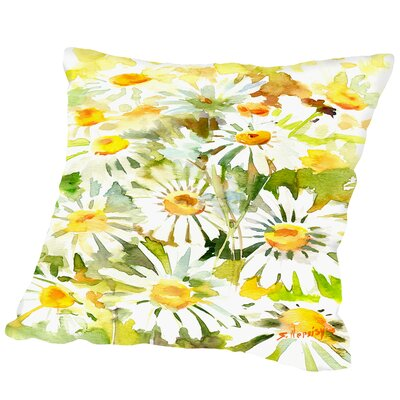 Chamomiles Outdoor Throw Pillow Size: 16 H x 16 W x 2 D