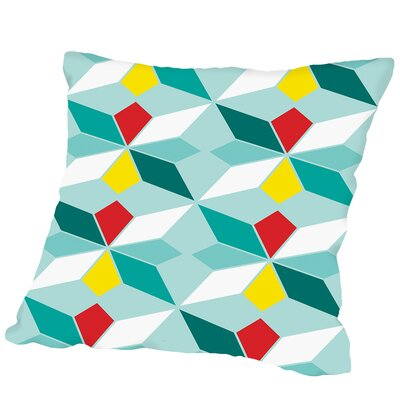 Geometric Outdoor Throw Pillow Size: 16 H x 16 W x 2 D