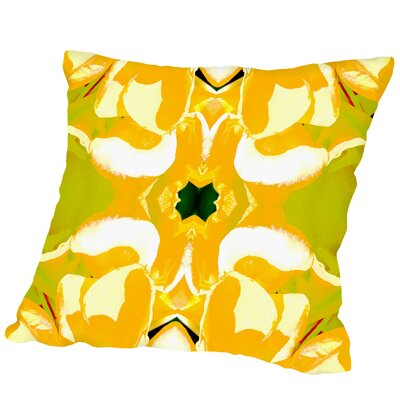 Lemon Canna Square Outdoor Throw Pillow Size: 18 H x 18 W x 2 D