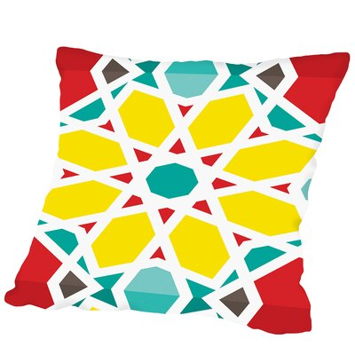 Heptagon Multi Outdoor Throw Pillow Size: 18 H x 18 W x 2 D