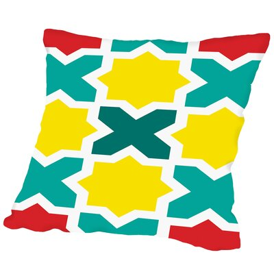 X Outdoor Throw Pillow Size: 16 H x 16 W x 2 D