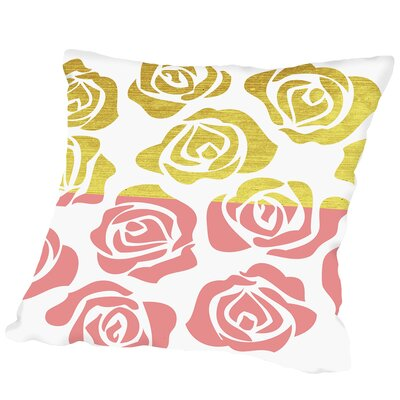 Rosesa1 Outdoor Throw Pillow Size: 18 H x 18 W x 2 D