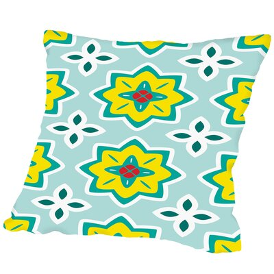 Flowers Outdoor Throw Pillow Size: 16 H x 16 W x 2 D