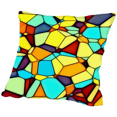 Mosaic Throw Pillow Size: 18 H x 18 W x 2 D
