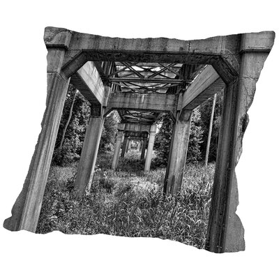 The Bridge Throw Pillow Size: 14 H x 14 W x 2 D