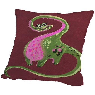 Femaledino Throw Pillow Size: 16 H x 16 W x 2 D