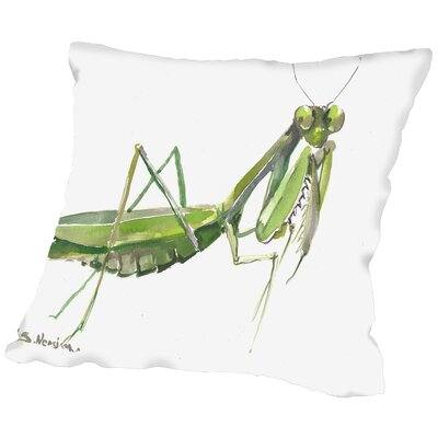 Praying Mantis Throw Pillow Size: 14 H x 14 W x 2 D