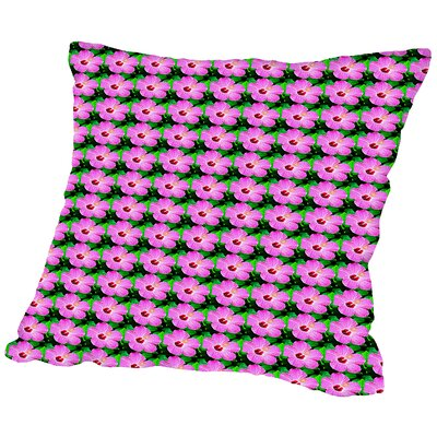 Flowers Throw Pillow Size: 14 H x 14 W x 2 D