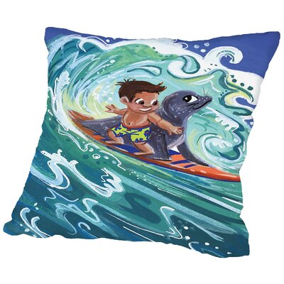 Leowensurfs Throw Pillow Size: 14 H x 14 W x 2 D