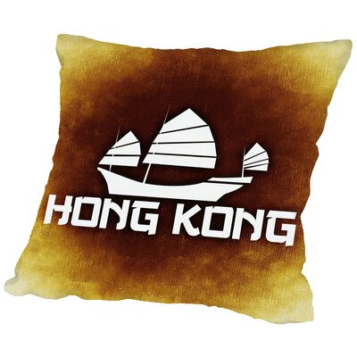 Hong Kong Throw Pillow Size: 18 H x 18 W x 2 D