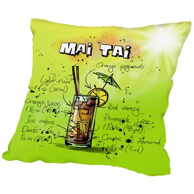 Mai Tai Throw Pillow Size: 18 H x 18 W x 2 D