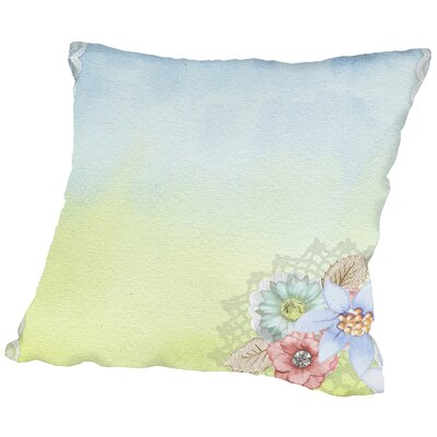 Vintage Flower Throw Pillow Size: 16 H x 16 W x 2 D