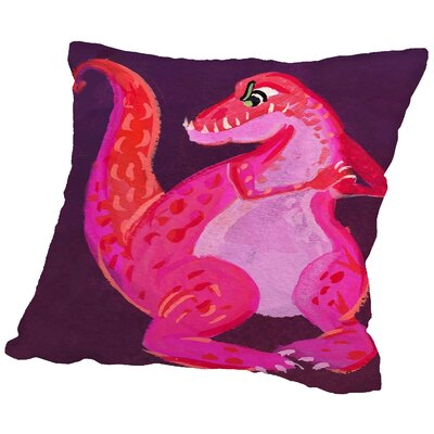 Dinodan Throw Pillow Size: 18