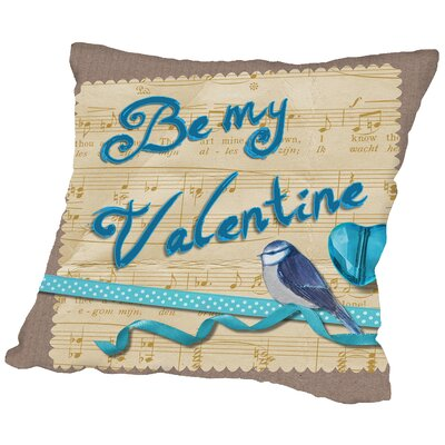 Valentine Love Throw Pillow Size: 18 H x 18 W x 2 D