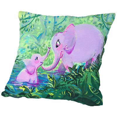 Elephantlove Throw Pillow Size: 18 H x 18 W x 2 D