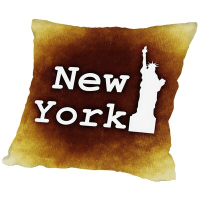 New York US Throw Pillow Size: 18 H x 18 W x 2 D