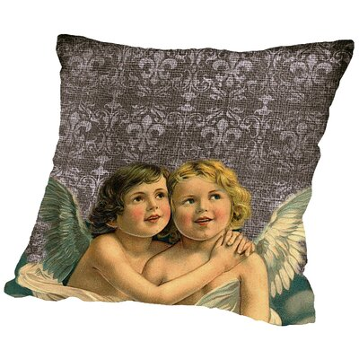 Faith Angel Love Throw Pillow Size: 20 H x 20 W x 2 D