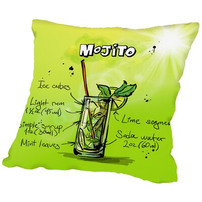 Mojito Throw Pillow Size: 18 H x 18 W x 2 D