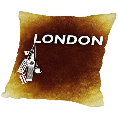 London England Throw Pillow Size: 18 H x 18 W x 2 D