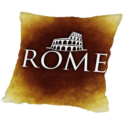 Italy Rome Throw Pillow Size: 18 H x 18 W x 2 D