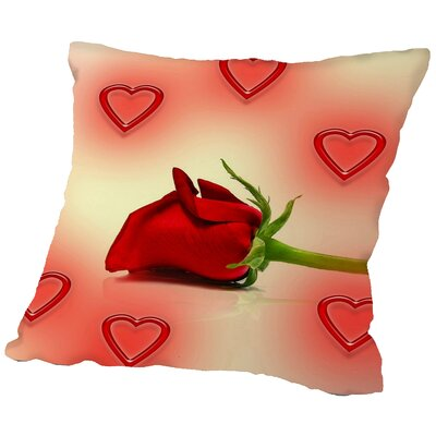 Valentine Rose Love Throw Pillow Size: 16 H x 16 W x 2 D