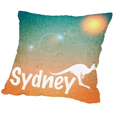 Sydney Australia Throw Pillow Size: 18 H x 18 W x 2 D