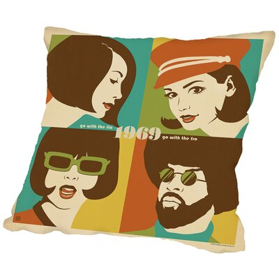 Go with The Flo Fro Throw Pillow Size: 16 H x 16 W x 2 D