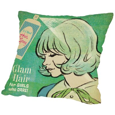 Hair Spray Throw Pillow Size: 14 H x 14 W x 2 D