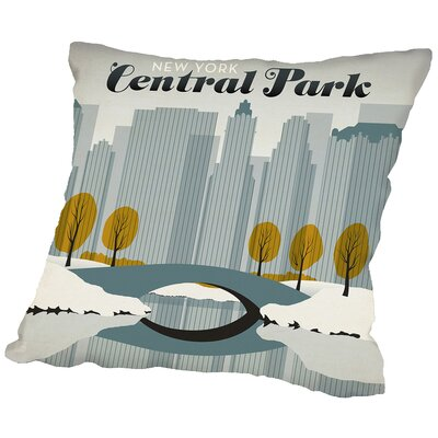 Central Park Snow Throw Pillow Size: 16 H x 16 W x 2 D