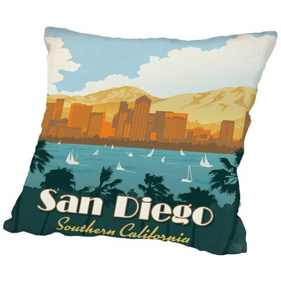 Sandiego Throw Pillow Size: 18 H x 18 W x 2 D